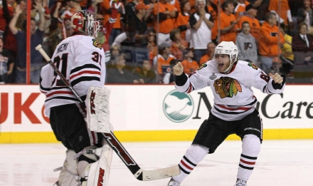 The odd celebration after the Stanley Cup Winning Goal