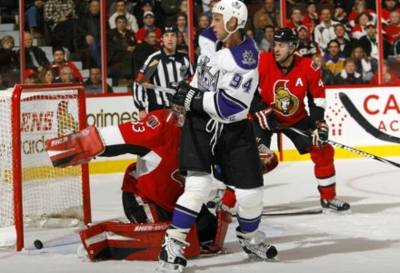 The goal - Ryan Smyth deflection with 3 seconds left against Ottawa Senators 11/22/10