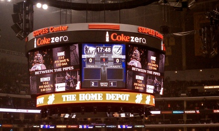 Predators lightning scoreboard broadcast fail staples center LA Kings