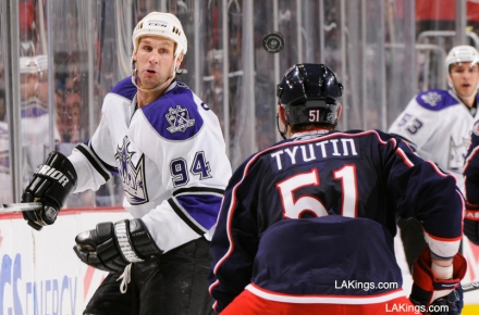 Ryan Smyth vs Columbus 2/16/11