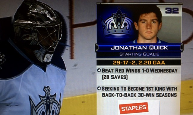 Jonathan Quick wrong stat