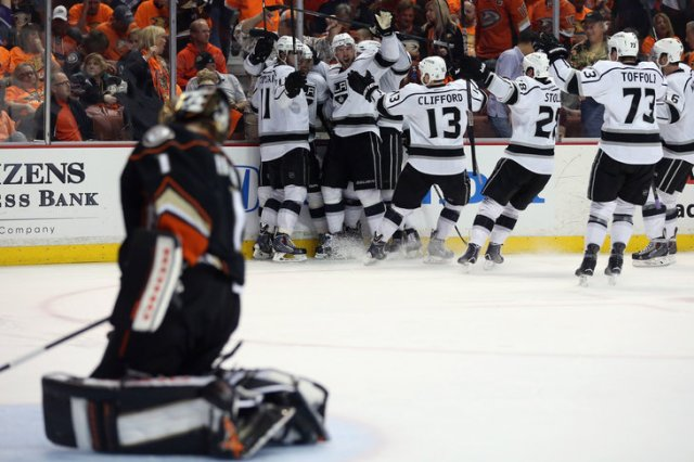 Los Angeles Kings v Anaheim Ducks - Game One